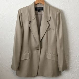 Linda Allard Ellen Tracy Silk Suit Jacket